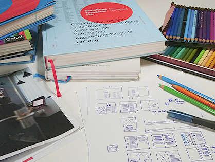 Ein Buchdesign beginnt